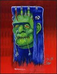 Ben Von Strawn Shrunkenstein Hand Signed Artist Print Image