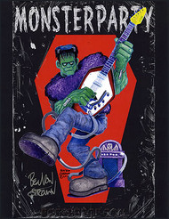 Ben Von Strawn Monster Party Hand Signed Artist Print Image