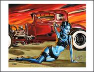 BigToe Red A Rod Signed Artist Print Image