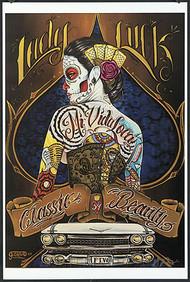 Gustavo Rimada Lady Luck Hand Signed Print Image