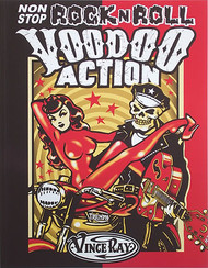 "Vince Ray ""Non Stop Rock n Roll Voodoo Action"" Softcover Book Top Image"
