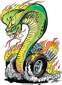 Pizz Cobra Sticker Image