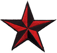 Star 3-D Red-Black Patch Image