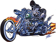 Pizz Hell Biker Sticker Image