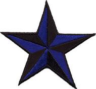 Star 3-D Blue-Black Patch Image