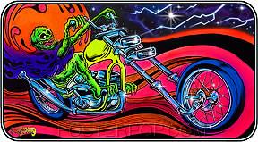 Dirty Donny Blacklight Rider Sticker Image