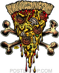 Dirty Donny Pizza Party Sticker Image