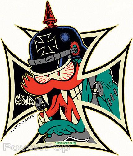 Ben Von Strawn Gremlin Kross Sticker Image