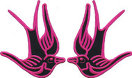 Birds of Happiness Patch Pair Pink Image