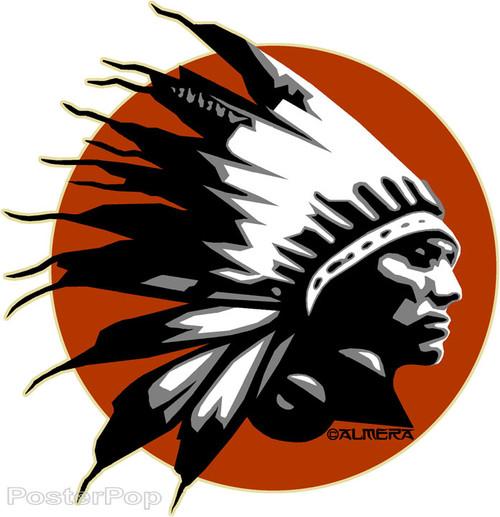 Almera Comanche Chief Sticker Image