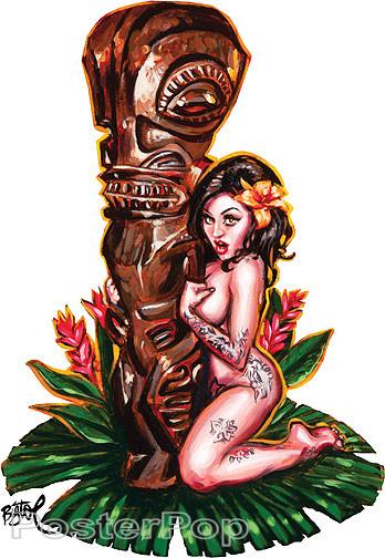 BigToe Tiki Maiden Sticker Image