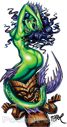 BigToe Green Siren Sticker Image