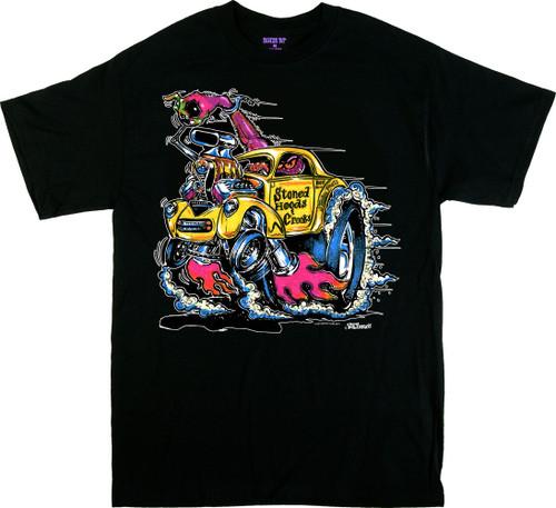 Von Franco Stoned Hoods T Shirt Color Image