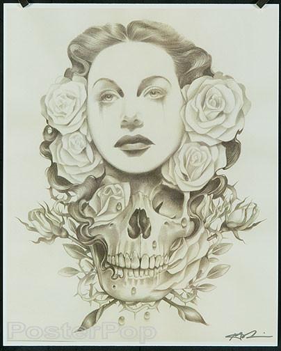 Gustavo Rimada White Lies Hand Signed Print Image
