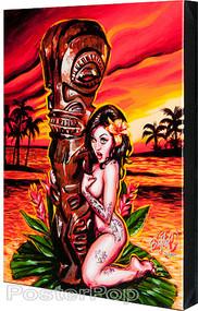 BigToe Tiki Maiden Fine Art Print Image