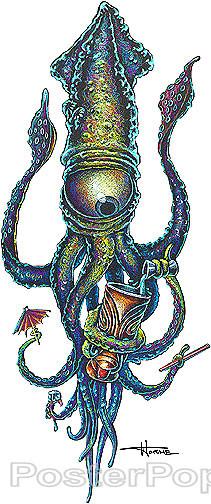 Doug Horne One Eyed Bartender Sticker Image