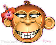 Doug Horne Happy Girl Monkey Sticker Image