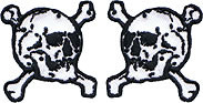 "Collar Skull 1"" Patch Pair"