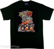 Von Franco SS Nova T Shirt. 60's Muscle Car Ed Roth Fink Monster Hot Rod Gasser