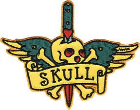 Micky Martin Tattoo Skull Patch Image