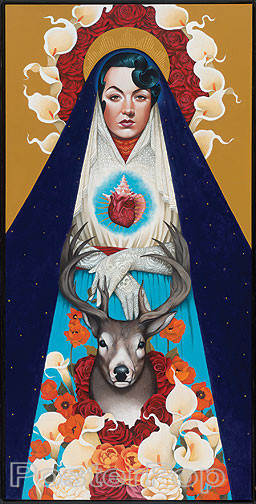 Gustavo Rimada Mother Earth Sticker Guadeloupe Holy Image