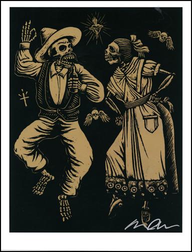 Almera Muertos Dancers Hand Signed Artist Print Image