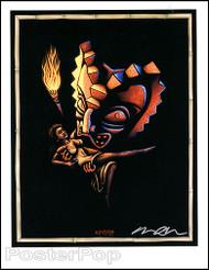 Almera Freaky Tiki Hand Signed Artist Print Image