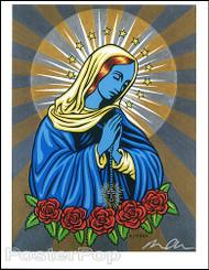 Almera Blue Mary Hand Signed Artist Print Image