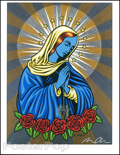 Almera Blue Mary Hand Signed Artist Print Image
