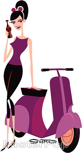 Shag Take 5 Scooter Sticker, Scooter, Coke, Cola, Sexy, Break, Vespa, Warm, Alluring, Image