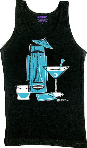 SHAG Tiki Drink Woman's Boy Beater Tank Image