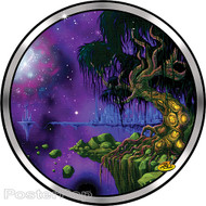 Dirty Donny Space Tree Sticker, Science Fiction, Illustration
