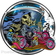 Dirty Donny Smoke Out Sticker. Biker, Skulls, Death