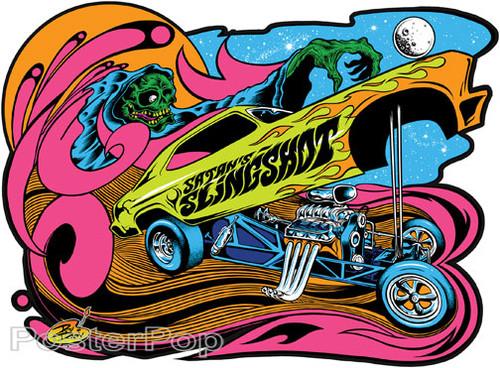 Dirty Donny Satans Slingshot Sticker, Dragster, Funny Car, Gasser