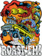 Dirty Donny Roast Em Sticker, Gasser, Rat Fink, Ed Roth, Hot Rod Monster