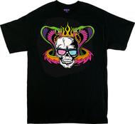 Dirty Donny Mind Melter T-Shirt, Flaming Skull, Cobras, Hot Rod, Blacklight