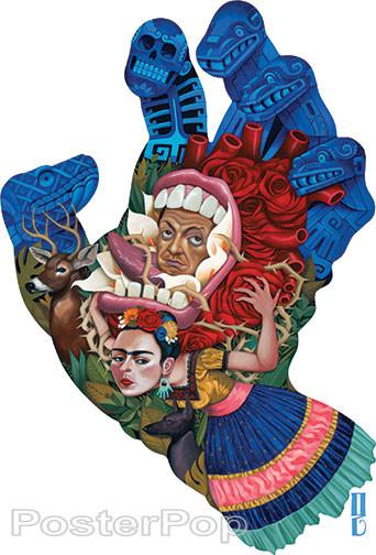 Gustavo Rimada Screaming Skull Sticker, Frida Kahlo, diego Rivera, Jim Phillips, Santa Cruz Skateboards Screaming Hand