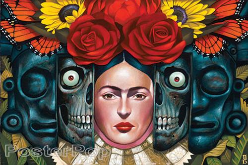 Gustavo Rimada El Ciclo Sticker, Frida Kahlo, Aztek Skulls, History, Roses, Sunflowers, Butterflys
