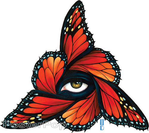 Gustavo Rimada Monarch Sticker, Butterflies, Wings, Orange, Regal, Eye, Triangle