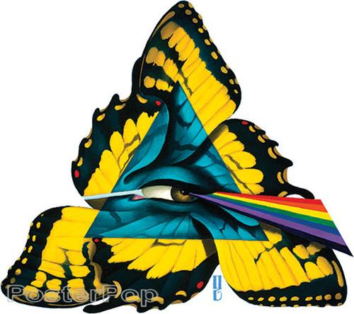 Gustavo Rimada Comfortably Numb Sticker, Pink Floyd, Dark Side of the Moon Prism, Rainbow, Butterfly, Wings, Eye