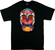 Gustavo Rimada Dark Paradise T Shirt, Skull, Flowers, Day of the Dead, Roses