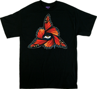 Gustavo Rimada Monarch T Shirt, Orange, Butterflies, Wings, Eye