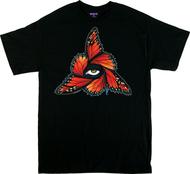 Gustavo Rimada Monarch T Shirt, Orange, Butterflies, Wings, Eye