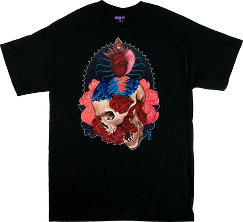 Artist Gustavo Rimada Born From Water T Shirt, Nautilus, Skull, Heart, Octopus, Roses, Flowers