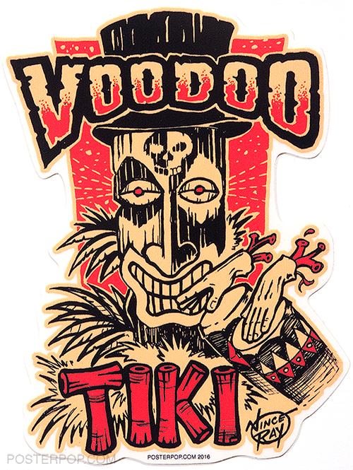 Artist Vince Ray Voodoo Tiki Poster Pop Die Cut Sticker