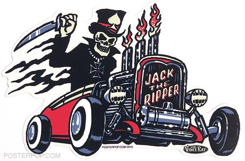 Artist Vince Ray Jack the Ripper Poster Pop Die Cut Sticker