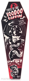 Vince Ray Voodoo Coffin Die Cut Poster Pop Sticker