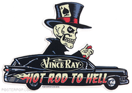 Vince Ray Hearse Die Cut Poster Pop Sticker