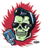 Vince Ray Elvis Skull Die Cut Poster Pop Sticker