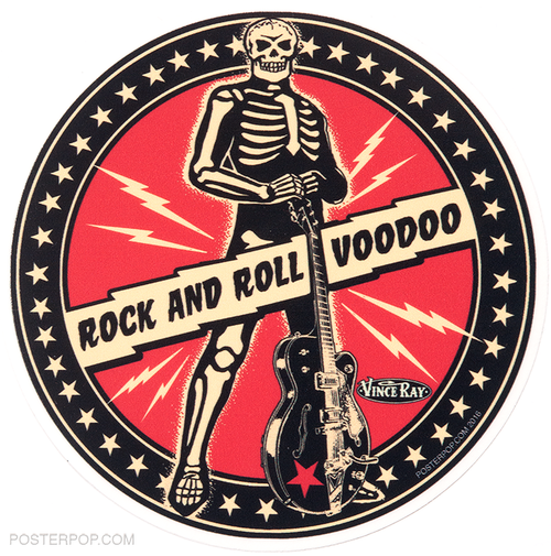 Vince Ray Boneman Die Cut Poster Pop Sticker